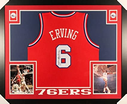 a68e20733b31 Image Unavailable. Image not available for. Color  Julius  quot Dr. J quot  Erving  Signed Philly 76ers 35x43 Custom Framed Jersey (