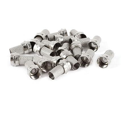 20 piezas RG6 de aleación de rosca para Cable Coaxial F-Macho tipo RF conectores