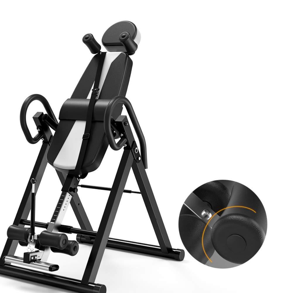 ヘビーデューティ反転テーブル 補助倒立型テーブル、拡張ベース付き高さ調節可能、特別厚手サポート付き安全ショルダーストラップ   B07PHNW1HC