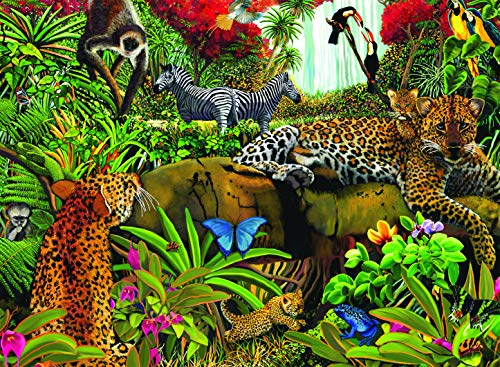 Ravensburger Wild Jungle - 100 Piece Jigsaw Puzzle for Kids - Every Piece is Unique, Pieces Fit Together Perfectly