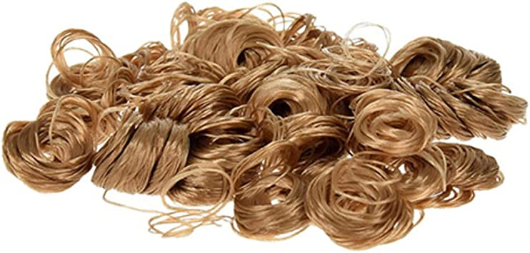 High Quality Dolls Hair White Curls for Crafts 0.5oz