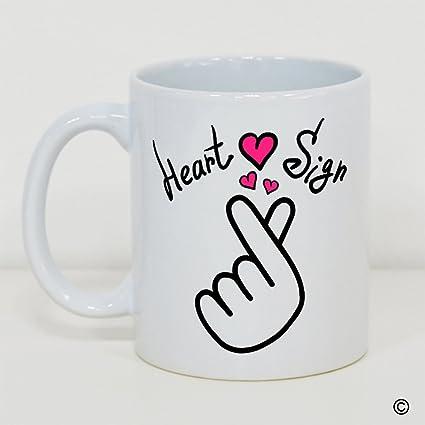Amazon Msmr Coffee Mug Funny Quotes Mug Heart Sign Korean