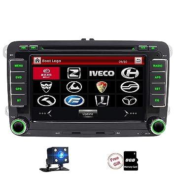 FOIIOE 2 DIN 7 Pulgadas Coche DVD Radio Player HD Digital Pantalla Táctil Unidad de Cabezal para Asiento/Altea/Leon/Ibiza/Altea XL/VW/PASSATB6/Skoda ...