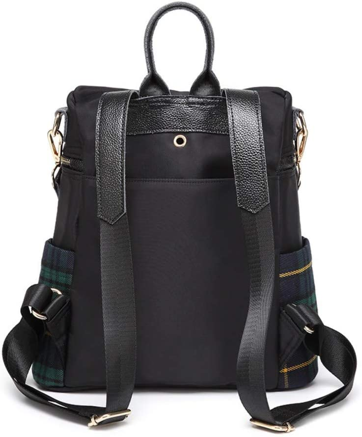 Zlk Backpack Plaid Backpack Female Casual Anti-Theft Backpack Oxford Cloth Bag