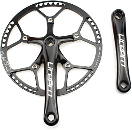 Litepro Bicycle Floding Road Bike Crankset 130BCD Single-Speed Chainring Crank