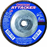 United Abrasives- SAIT 76321 Ovation Attacker Flap Disc, 4-1/2 x 5/8-11 Z 120x, 10 Pack