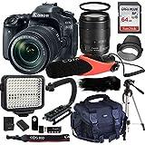 Canon EOS 80D Digital SLR Kit with EF-S 18-135mm f/3.5-5.6 Image Stabilization USM Lens+ Comica CVM-V30 Shotgun Camera Microphone + 64GB Memory + Video Kit