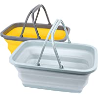 Magesh Collapsible Sink 2 Pack - Outdoor Camping Picnic Basket Each 11L/2.90Gal Wash Basin, Portable Foldable Tub/Basin…