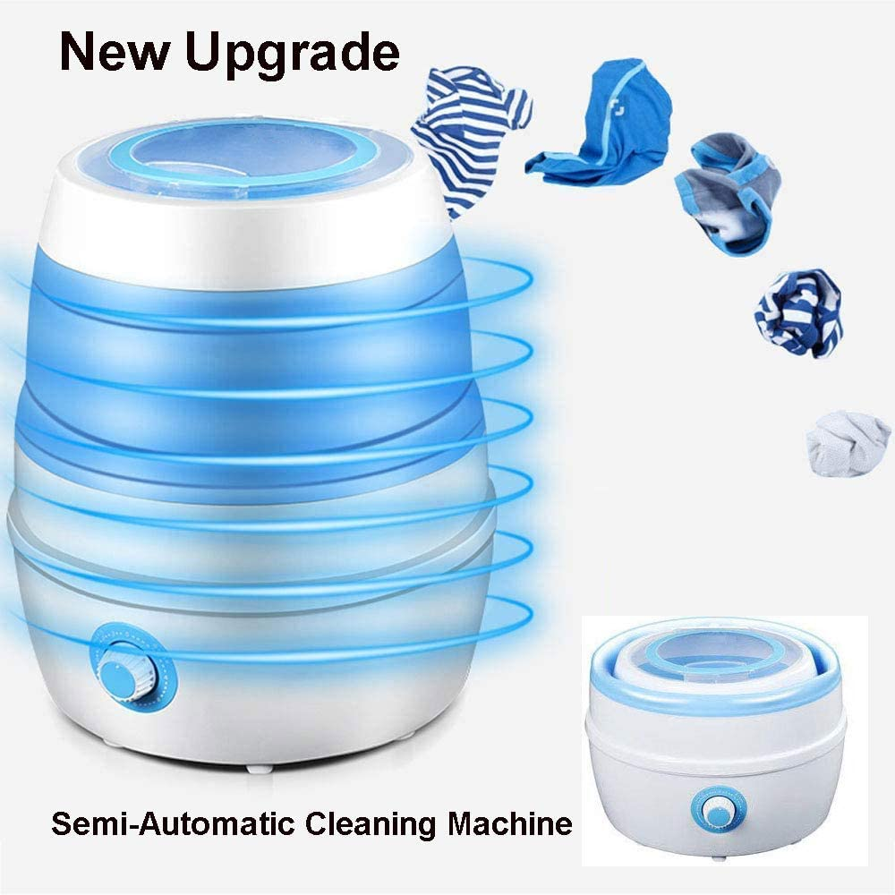 MLSJM New Upgrade Mini Folding Semi-Automatic Cleaning Machine Portable Washing Machine Clothes Washer for Underwear Panties Socks Baby Clothes for Home Travel