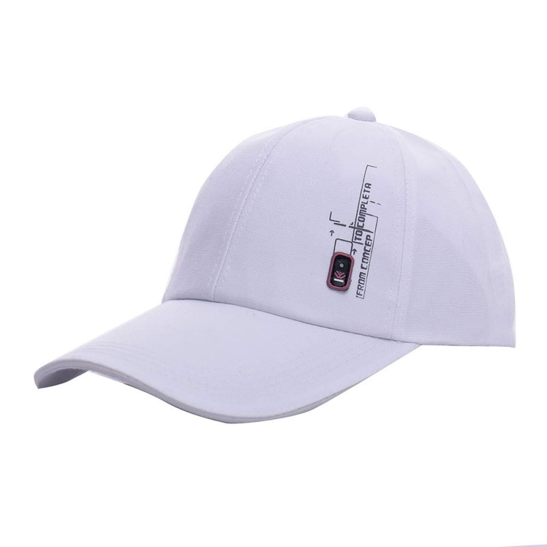 Summer Solid Baseball Cap Outdoor Sun Caps Men Casual Visor Hat Cotton Snapback Adjustable Caps