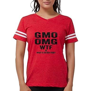 16a78ab8e Amazon.com: CafePress GMO OMG T-Shirt - Womens Football Shirt: Clothing