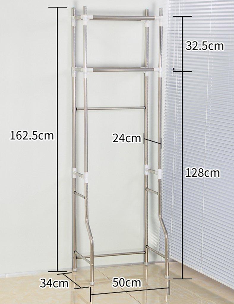 Estantes de la lavadora ZCJB Bastidores De Baño WC Estante WC Acabado Estante Multifunción (Tamaño : Height 182cm)