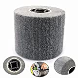 600 Grit 5 inch Non-woven Abrasive Wheel Gray Wire Drawing Polishing Wheel used for The Surface Treatment of Stainless Steel, Aluminum, Copper and other Metal Products 120x100x20mm
