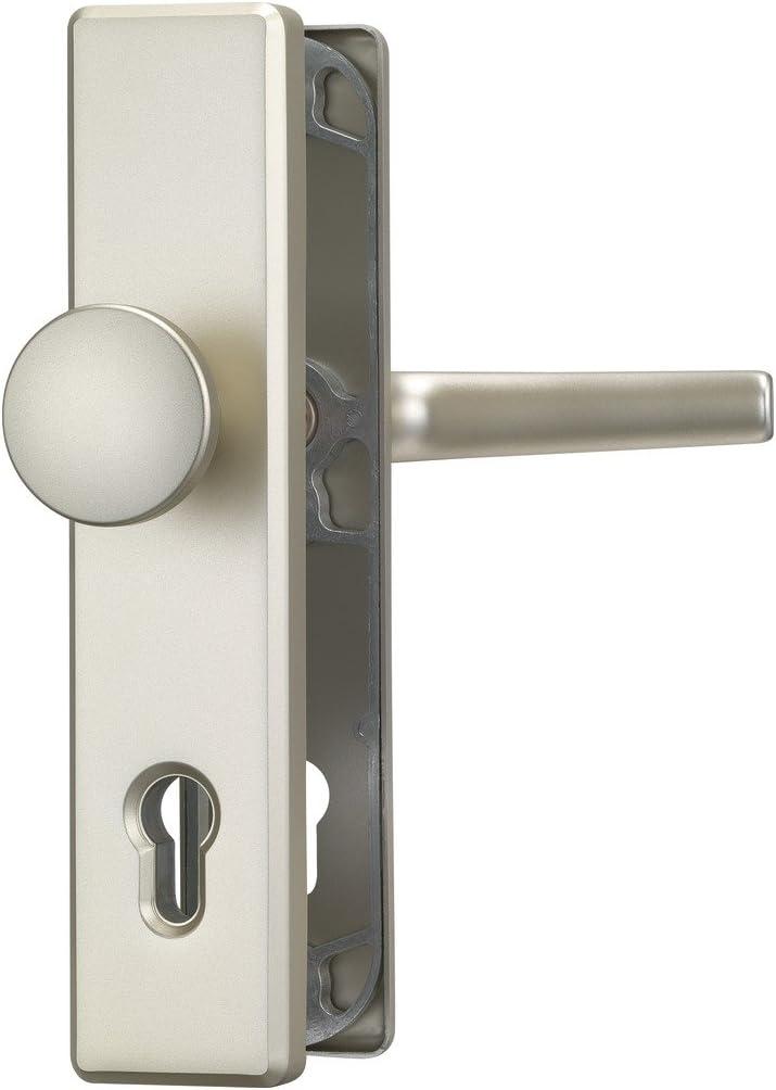 ABUS 008306 - Manilla para puerta principal (HLS214 F2 FSTRA WG), color plateado
