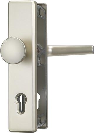 color plateado Manilla para puerta principal ABUS 008306 HLS214 F2 FSTRA WG