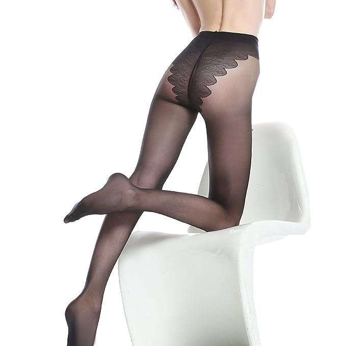 8fe49fe23 Snifgoij Bikini Crotch Jacquard Mariposa Entrepiernas Medias Ultra ...
