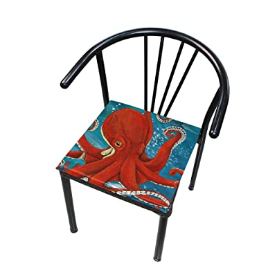 "Bardic HNTGHX Outdoor/Indoor Chair Cushion Animal Octopus Painting Square Memory Foam Seat Pads Cushion for Patio Dining, 16"" x 16"": Home & Kitchen"