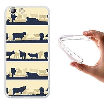 WoowCase Funda Elephone S7, [Elephone S7 ] Funda Silicona Gel Flexible Granja De Vacas, Carcasa Case TPU Silicona - Transparente