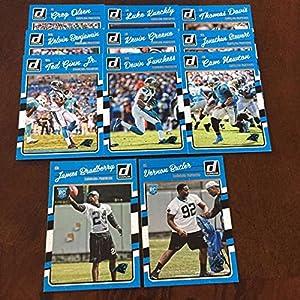 2016 Donruss Carolina Panthers Team Set w RC 11 Cards Cam Newton