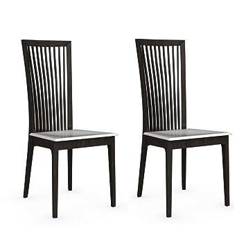 INSIDE Lot de 2 chaises Italienne Philadelphia Structure wengé ...