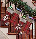 AtRenty Christmas Stockings Large 18 inches 4 Pcs