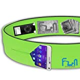RUNNING BELT - Premium Fitness Waist Pack - Best Fit for Large Phones including iPhone 6 / 7 plus and Samsung Note 4 - Perfect for Workout Exercise, Gym, Yoga & Outdoor Activities, Cycling, Traveling
