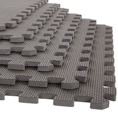 Stalwart Foam Mat Floor Tiles, Interlocking EVA Foam Padding Soft Flooring for Exercising, Yoga, Camping, Kids, Babies, Playroom - 6 Pack