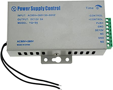 LIBO Smart Home Access Control Power Supply K80 Power Switch DC 12V 5A AC 110~260V for All Types Access Control System Door Lock with Time Delay