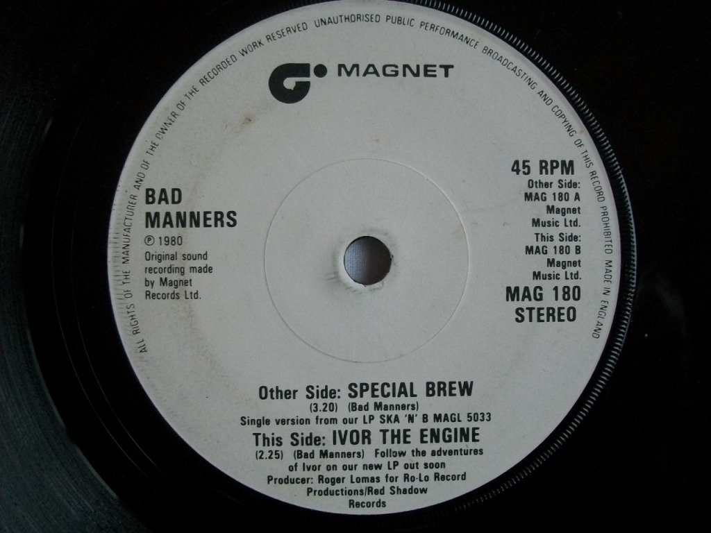 Bad Manners Special Brew / Ivor The Engine Italy 45 W/PS
