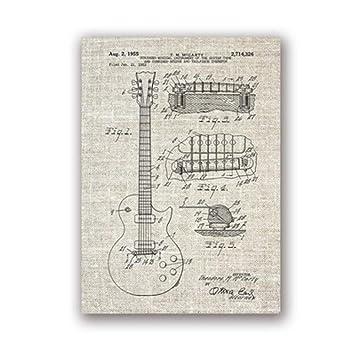 Hrlo Impresiones del cartel de la guitarra de la vendimia ...