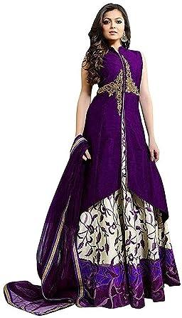 e4daf4d76 Moksha Enterprise Women s Satin Printed Ghagra Choli (Purple