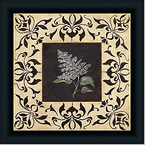 amazon com purple lilac french country decor wall art print framed