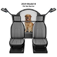 """Improved for 2019 Pet Net Vehicle Safety Mesh Dog Barrier - 50"""" W for SUV/Car/Truck/Van - Fits Behind Front Seats"""