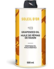 Soleil D'Or Grapeseed Oil, 500 ml (Pack of 1)