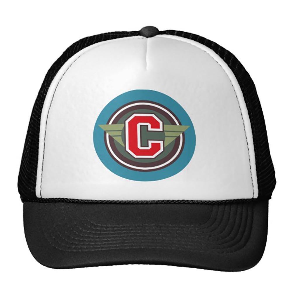 Goodaily Letter C Monogram Trucker Hat Black