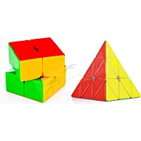 CocoRio Super Magic Speed Rubix's Cube Puzzle Combo Pack Game Multicolor (2x2 / Pyramid)
