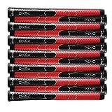 SET OF 13 WINN DRITAC AVS STANDARD BLACK / RED GOLF GRIP