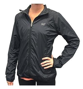 27959d61c27e 361 Degrees Women s Full Zip Windbreaker Jacket Moonless Night  401520101-110Z-XS Black