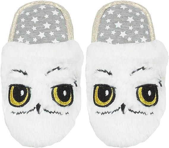 Harry Potter Plush Hedwig Memory Foam Slippers XXL 2X Slip-On Anti Slip Snow Owl