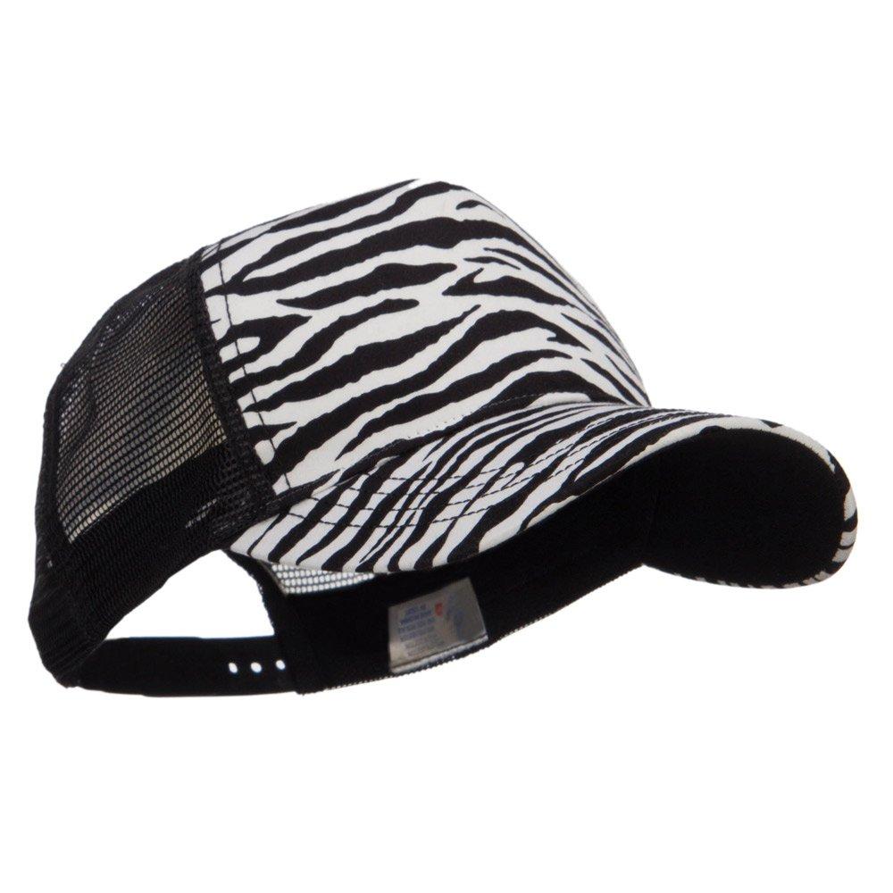 dd0fb8dc154a3 MG Animal Print Fashion Trucker Cap - Black White OSFM at Amazon Women s  Clothing store
