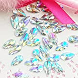 30 pcs 8x13mm Teardrop Light Crystal AB Acrylic Special Effect Rhinestones *ship with FREE GIFT from GreatDeal68*
