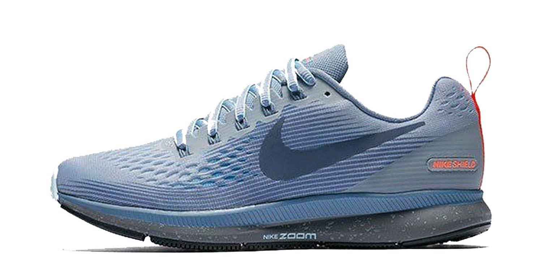 check out c582f 71a5f Amazon.com   Nike Women s Air Zoom Pegasus 34 Running Shield Shoe Wolf  Grey Thunder Blue-Dark Sky Blue 11.0   Sandals