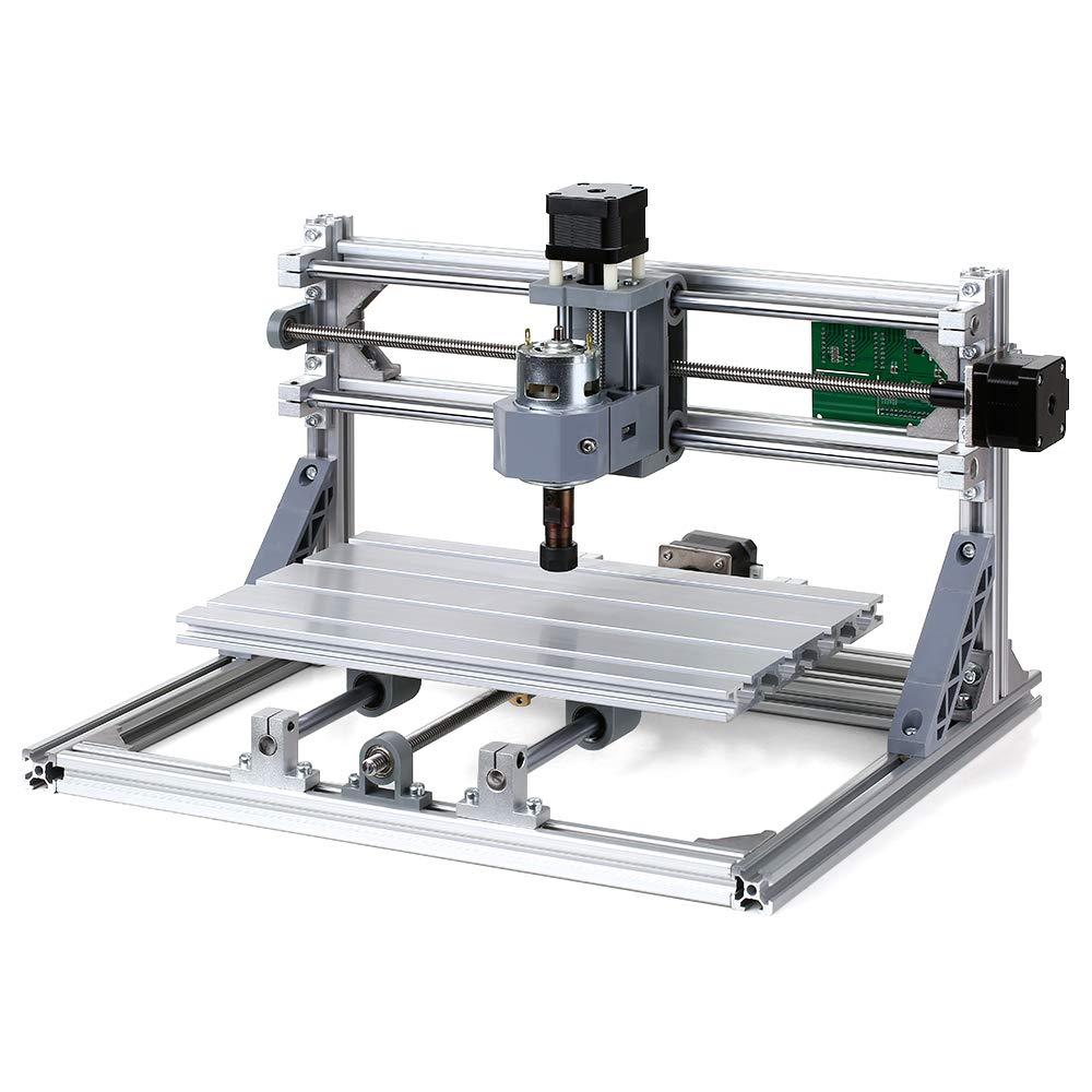KKmoon DIY CNC Routeur Kit 2 en 1 Mini Laser Gravure GRBL Contr/ôle 3 Axes pour PCB PVC en Plastique Acrylique Sculpture de Bois Fraisage Gravure Machine avec ER11 Collet et Lunettes de Protection