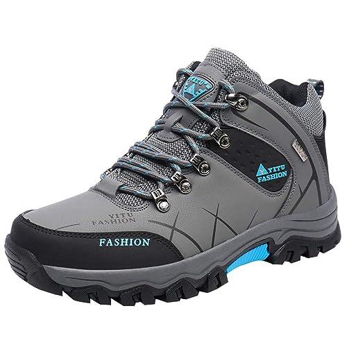 Logobeing Calzado Deportivo para Caminar Zapatillas de Senderismo Exterior Aire Libre y Deporte Mantenga Caliente Zapatillas