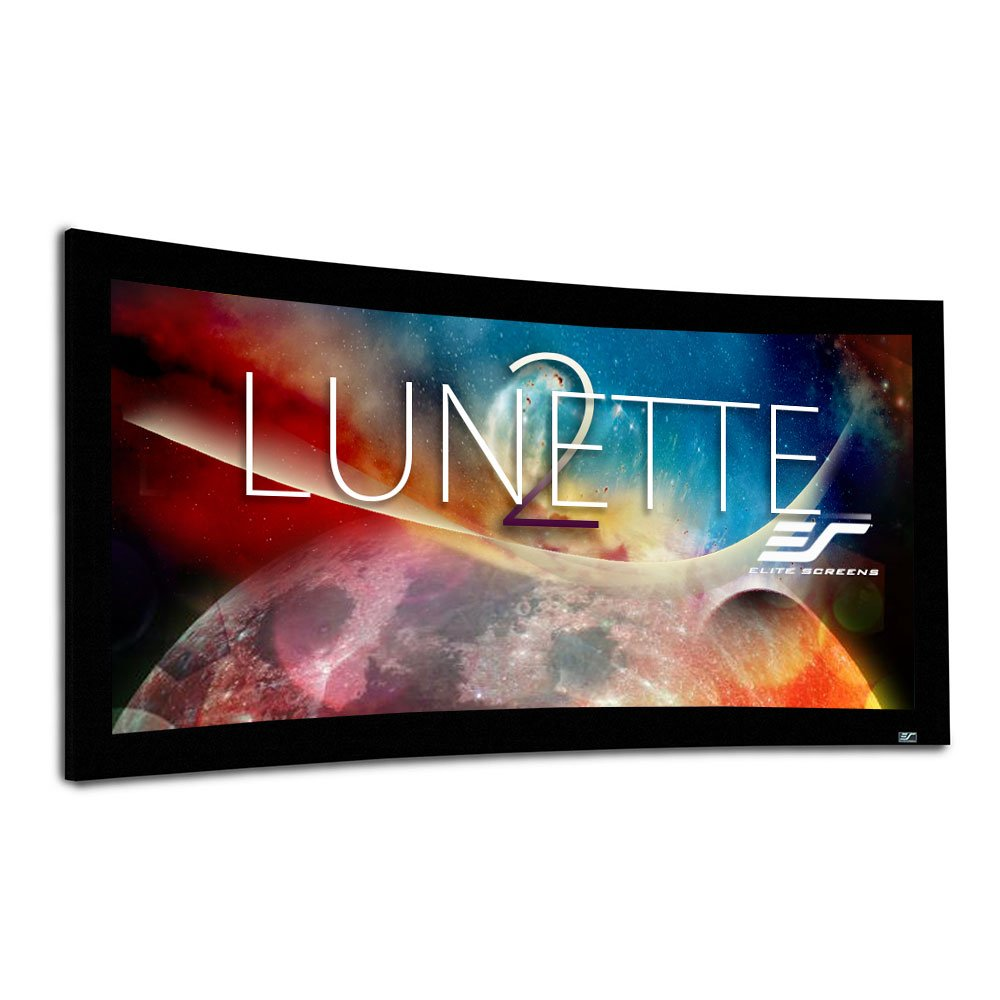 Elite Screens Lunette 2 Series, 158'' Diag. CinéScope 2.35:1, Curved Home Theater Fixed Frame Projector Screen, CURVE235-158W2