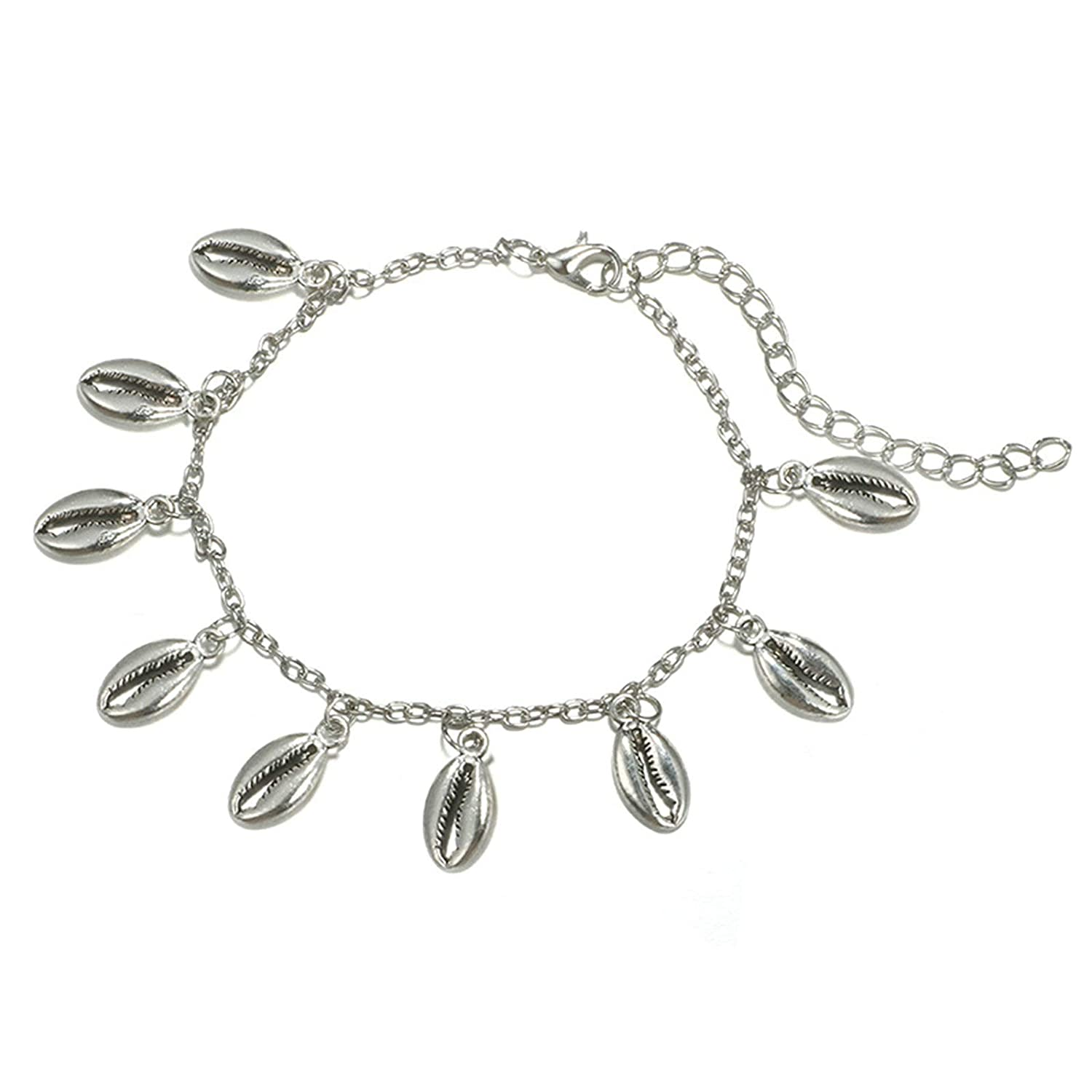 Aooaz Womens Anklet Alloy Anklets Shell Ankle Bracelets Retro