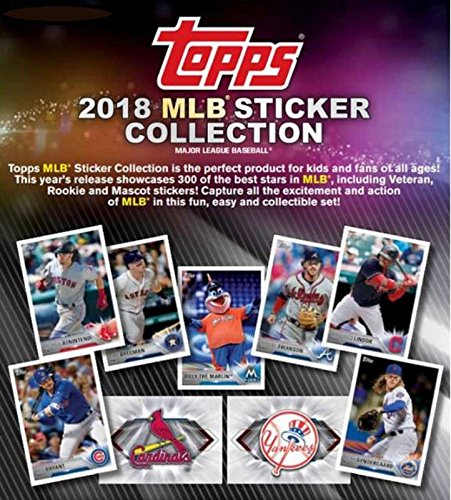 2018 Topps MLB Baseball Collectors Sticker Hobby Box: 50 Packs (400 stickers)