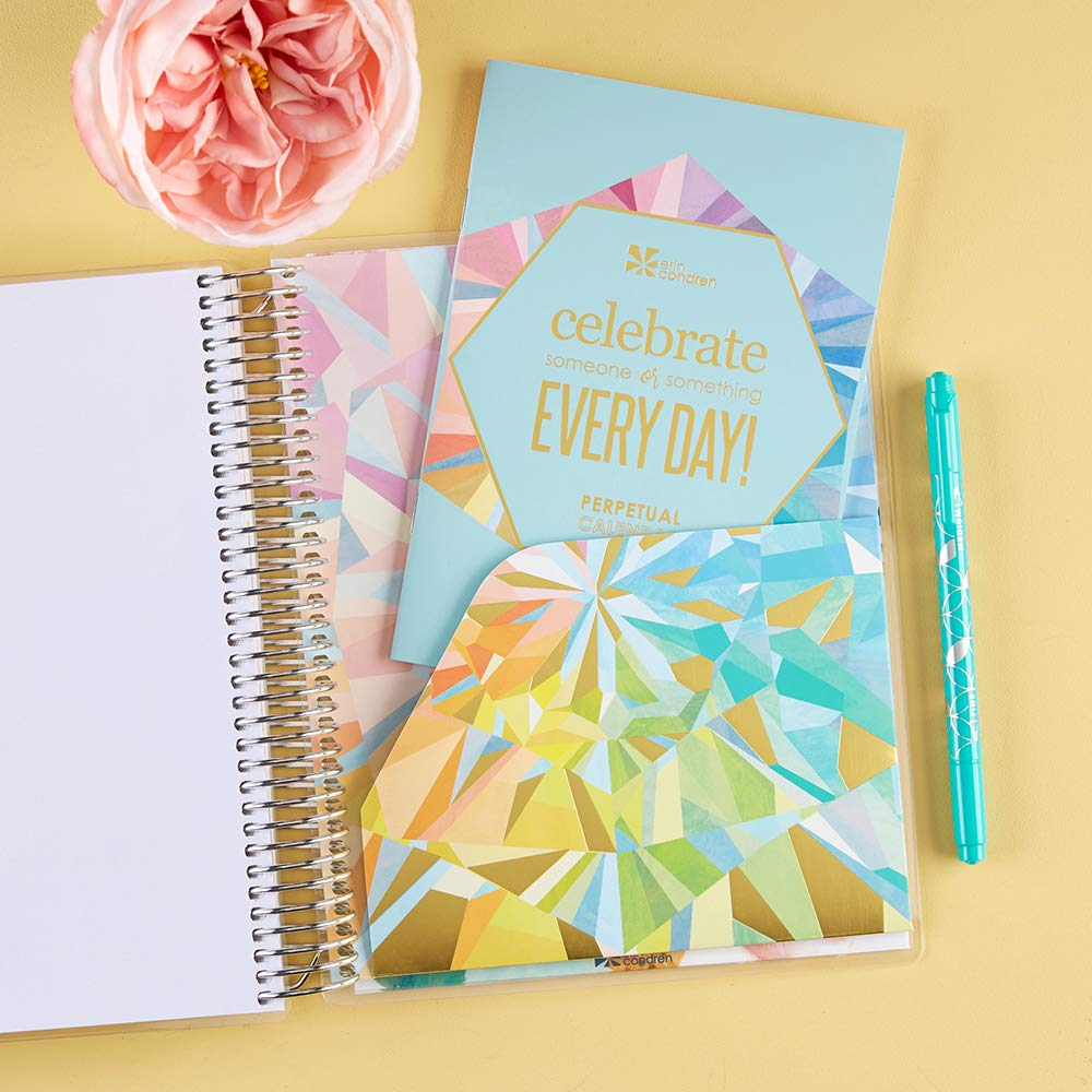 Erin Condren 12-Month July 2019 - June 2020 Coiled LifePlanner - Kaleidoscope Colorful, Hourly (Colorful Layout) by Erin Condren (Image #6)