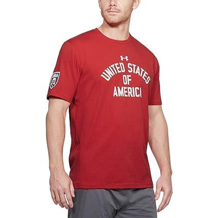 168bdbb502 Under Armour Men's USA Verbiage Short Sleeve