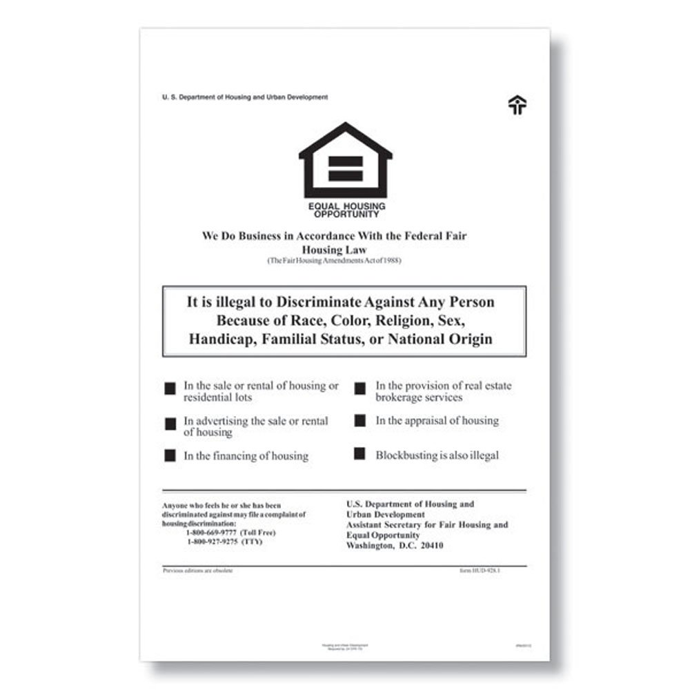 ComplyRight E8112 Fed Fair Housing Poster
